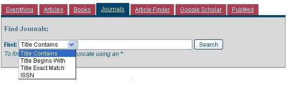 Find Journals
