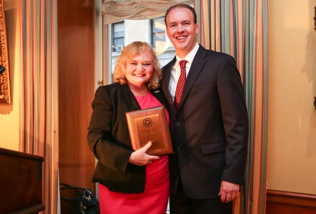 2015 Alumnus of the Year, Dr. Michael McGovern, with Dr. Denise Whittam, president of the Alumni Association