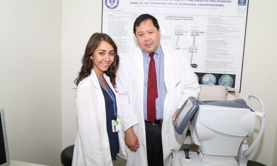 Dr. Wong with OD student Elizabeth Yusupov