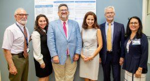 (L-R) Dr. Allen Cohen, Dr. Daniella Rutner, Brice Peyre, Aravella Simotas, Liduvina Martinez-Gonzalez
