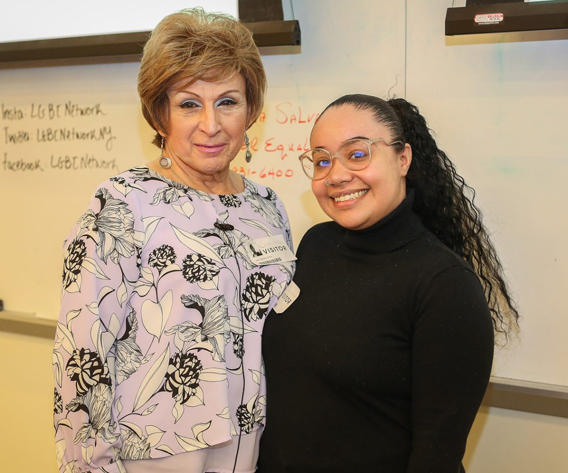 Barbara Salva, a transgender advocate, and Elle Huertas, community educator for the LGBT Network, April 22, 2019.