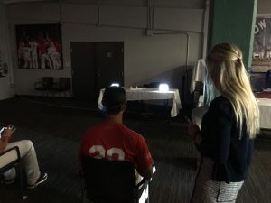 SUNY Optometry students testing one of the Cape Cod League players