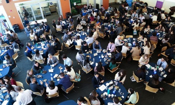 people at the Career Symposium
