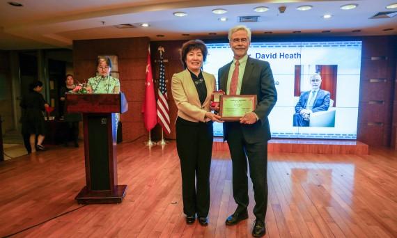 Dr. Heath at the China Gala
