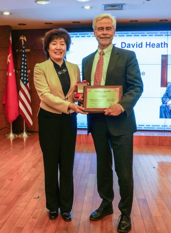 President Heath with Consul General Zhang Qiyue