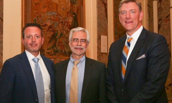 Martin Bassett with Dr. Heath and Mike Daley
