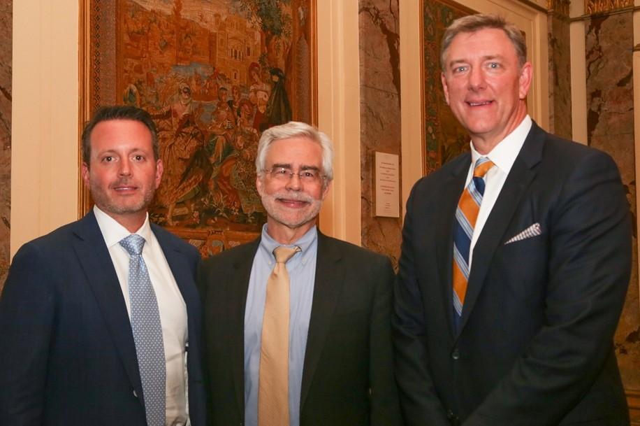 Honoree Brent Saunders, President Heath and Honoree Martin Bassett