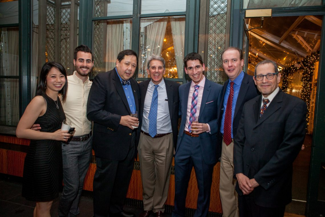 faculty, staff and studnets pose at the Eyeball 2016 party