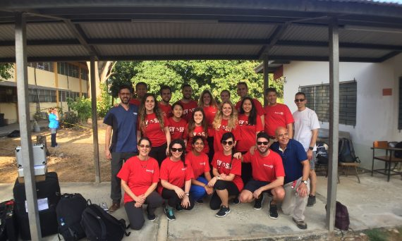 SUNY Optometry students and alumni joined a February 2019 VOSH mission to Penonome, Panama