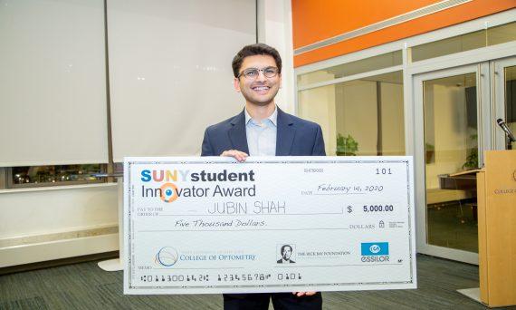 Jubin Shah, Class of 2021 receives scholarship after winning 2020 Student Innovator Award