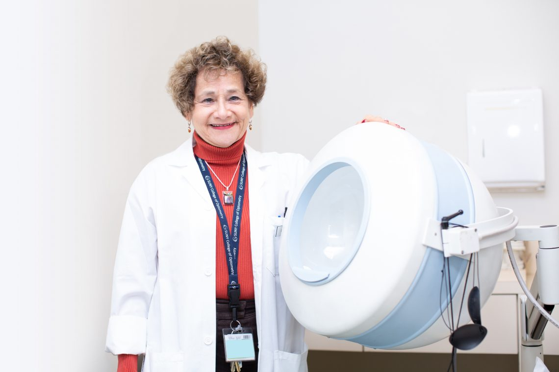 SUNY OPTOMETRY'S ELECTRORETINOGRAM MACHINE IS CHANGING LIVES