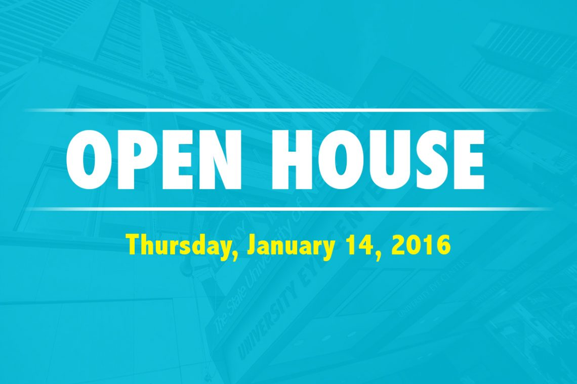 Open House poster 2016