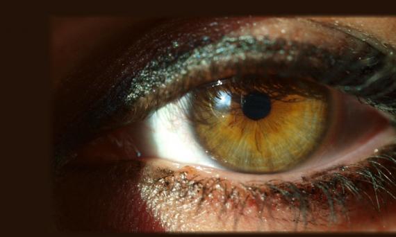 Close up of brown eye