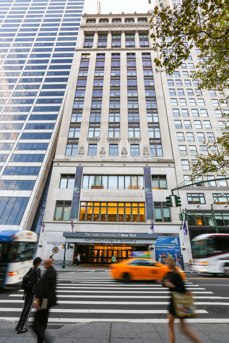 SUNY Optometry Exterior - 42nd Street