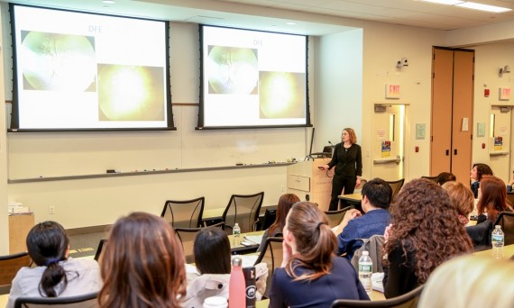 Residents listen to lecture at Continuing Education Program