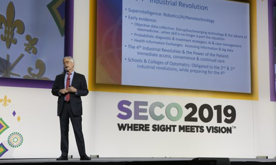 President David A. Heath presents during SECO2019, New Orleans.