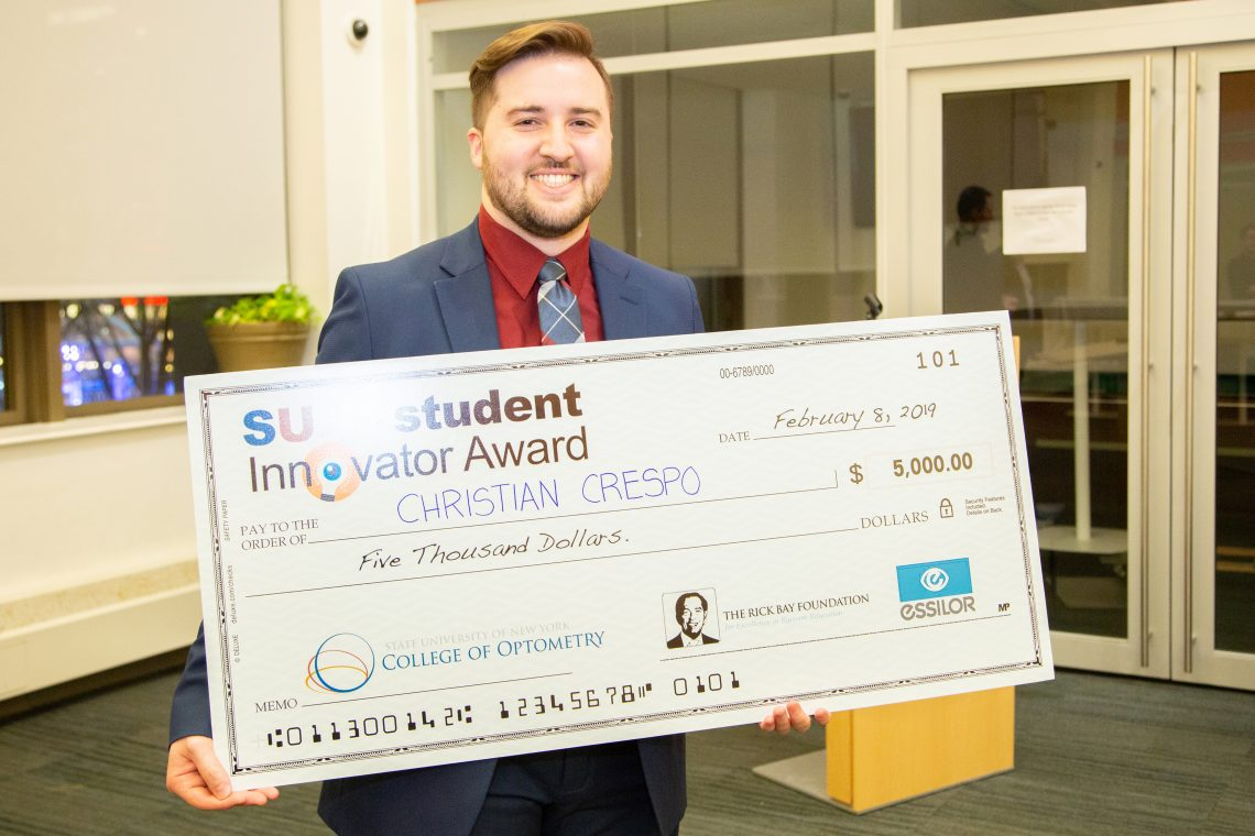 Student Innovator Award Winner Christian Crespo