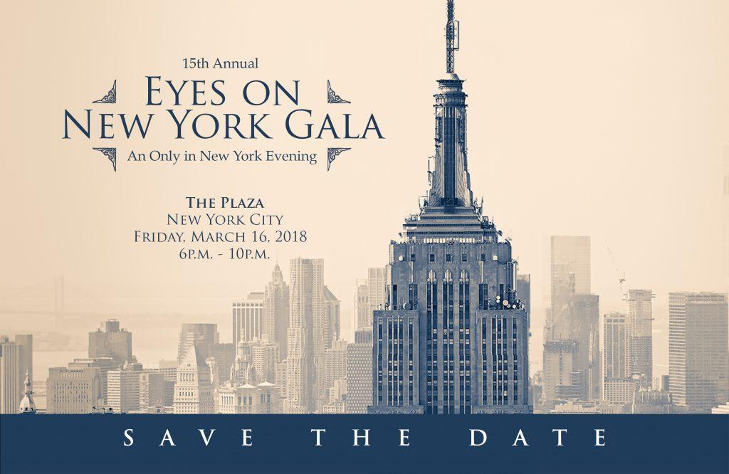 Eyes on New York Gala 2018 Banner