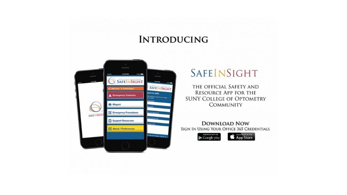 slider for new safe insight app – download via app store – SUNY