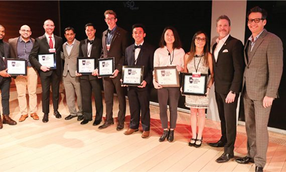 Student Innovator Award receipts, including SUNY Optometry's Elkie Fung